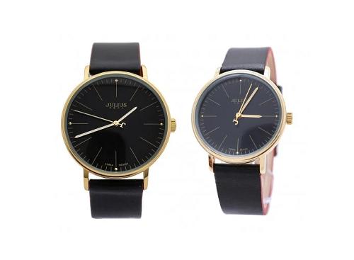 Đồng hồ cặp Julius Hàn Quốc JA-814 JU1005 (đen)