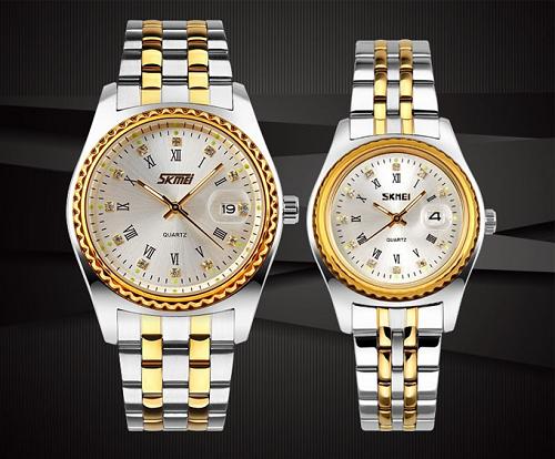 Đồng hồ cặp chính hãng SKMEI NTS064 vàng