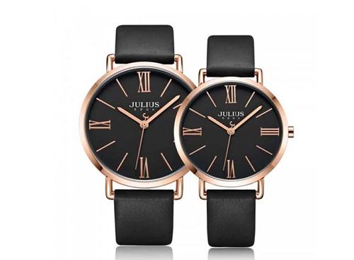Đồng hồ Julius ja-1107edây da - đen