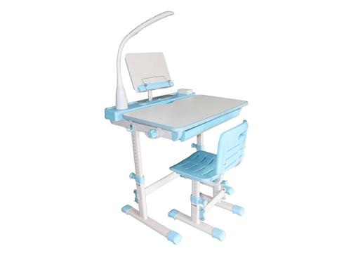 [Caption]Bộ bàn học thông minh chống gù lưng Kachi MK-102 - xanh dương