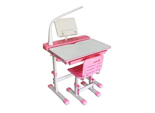 [Caption]Bộ bàn học thông minh chống gù lưng Kachi MK-102 (hồng)