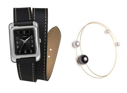 Đồng hồ nữ Timex Meriden 25mm - TW2R89700 vàLắc tay vàng 18k ngọc trai Tahiti Playground