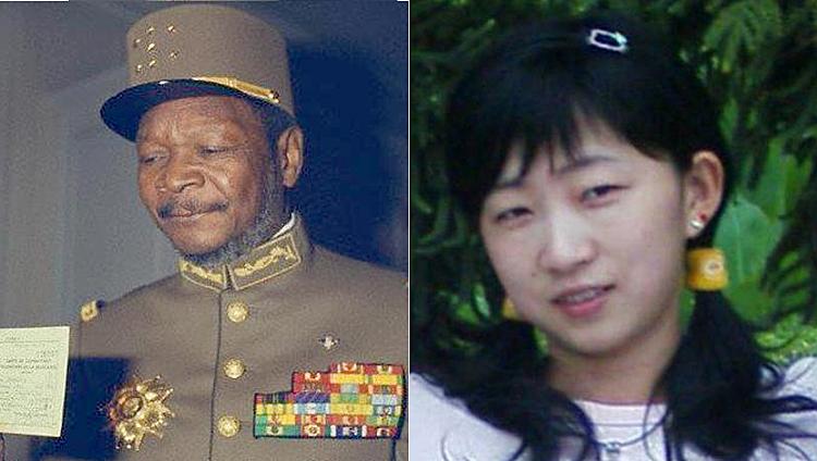 Jean Bedel Bokassa sinh năm 1921, nổi tiếng là nhà lãnh đạo độc tài và tàn bạo của Trung Phi.Lâm Bích Xuân (phải)trước khi sang Trung Phi lấy chồng năm 18 tuổi. Ảnh: sohu.