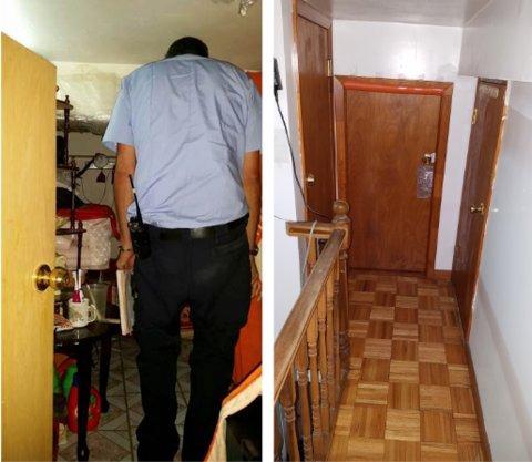 Mỗi căn hộ tự chế chỉ cao 1,35 đến 1,8 mét.