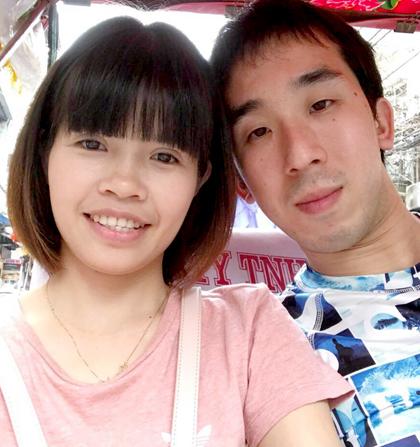 Mochizuki muốn được che chở Thuận ngay lần đầu gặp khi thấy cô bé nhỏ, đáng yêu. Ảnh: M.T.