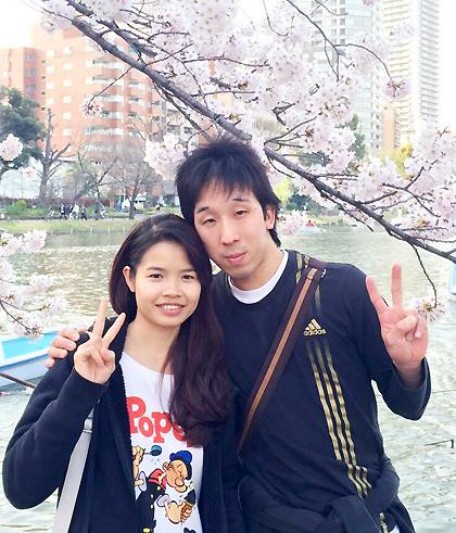 Thuận và Mochizuki khi mới quen tháng 5/2015. Ảnh: M.T.