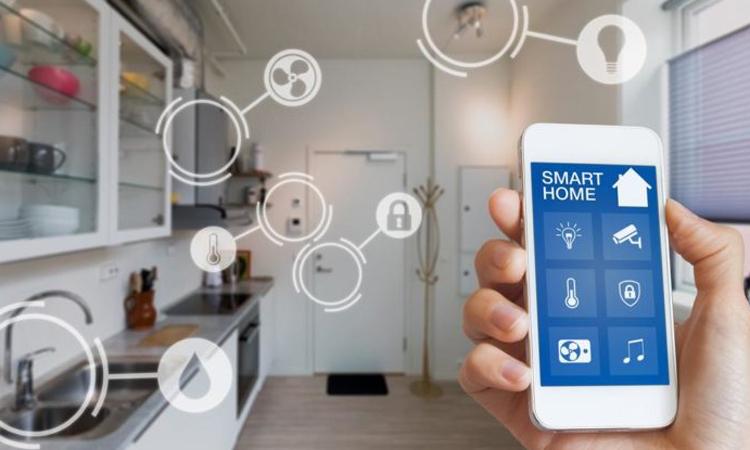 Điều khiển nhiệt độ, độ ẩm, ánh sáng trong nhà bằng điện thoại là chức năng cơ bản của nhà thông minh. Ảnh: Techloopy.