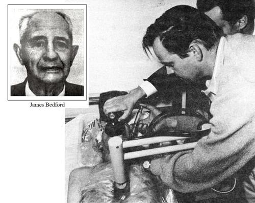 Bedford được tiêm dimethyl sulfoxide sau khi chết vào chiều ngày 12 tháng 1 năm 1967. Ảnh: amusingplanet.