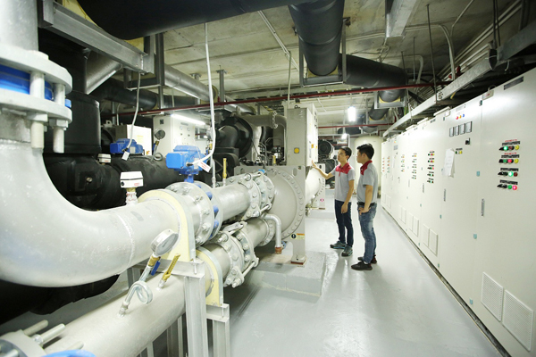 Hệ thống điều hòa Chiller của LG được lắp đặt ở nhiều công trình.