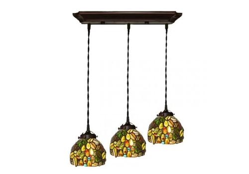 Đèn trần trang trí Tiffany - 3 chao nhỏ - chùm nho