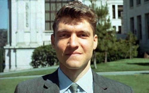 Ted Kaczynski thời trẻ. Ảnh: History.