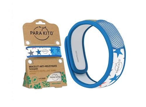 Viên chống muỗi PARA'KITO kèm vòng đeo tay bằng vải hoa văn ngôi sao (2 viên chống muỗi)