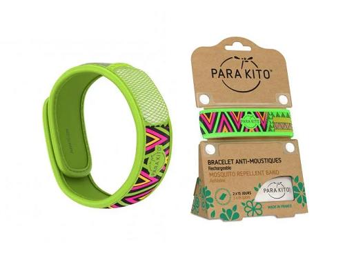 Viên chống muỗi Parakito kèm vòng đeo tay bằng vải hoa văn Inka (2 viên chống muỗi)