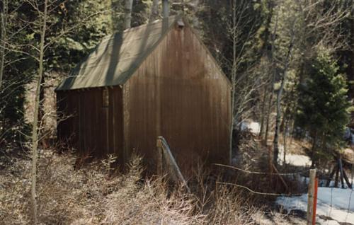 Bên ngoài căn cabin của Ted Kaczynski. Ảnh: Dark Mountain.