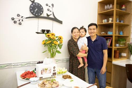 Khoảnh khắc hạnh phúccủa gia đình chị Thảo tại
