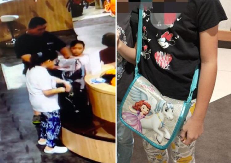 Clip điểm ghi lại cảnh gia đình thủ phạm lấy cắp túi của con gái được anh Ho đăng tải lên mạng xã hội. Ảnh: FacebookHo Siew Thong.