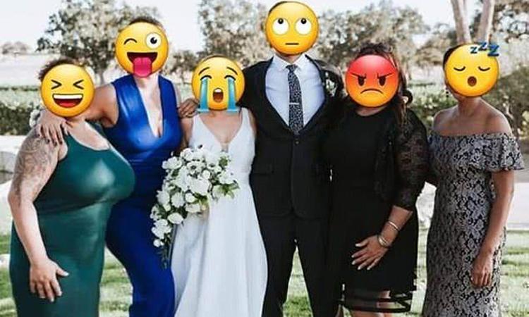 Bức ảnh được người dùng mạng chỉnh sửa theo đúng ý cô dâu. Ảnh: Greatdaily.