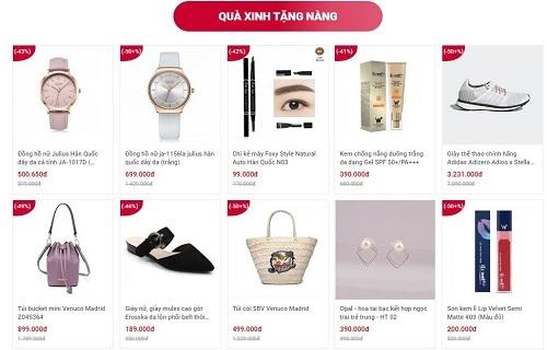 Shop VnExpress có nhiều gợi ý về quà tặng dành cho các đối tượng như bạn gái, mẹ, vợ... giúp người dùng dễ dàng chọn lựa.