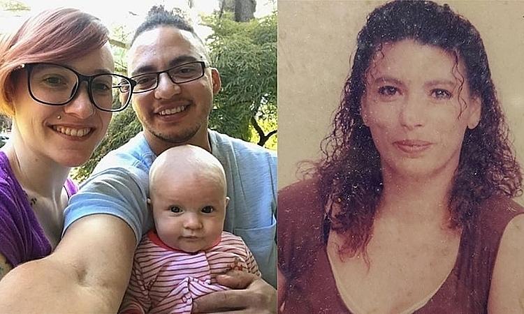 Bà Bejarano (phải)từng bị trầm cảm vì nghĩ con đã mất từ lúc lọt lòng, cùng gia đình của con trai. Ảnh: People.
