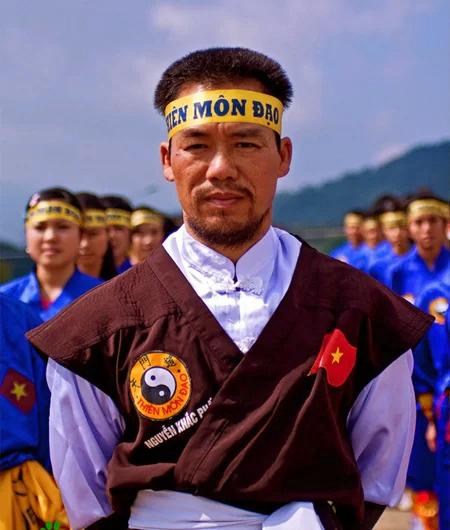 Ông Nguyễn Khắc Phấn, trưởng môn võ Thiên Môn Đạo. Ảnh: Mạnh Hùng.