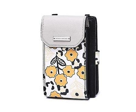 Túi ví minikích thước nhỏ, tiện dụng, tôn nét nữ tính cho người đeo. Xu hướng thời trang hiện nay đang là những chiếc túi xách càng nhỏ càng tốt. Hoa văn nhẹ nhàng kết hợp tông màu vàng trung tính, thích hợp cho các nàng dạo phố cùng bạn bè, người yêu.