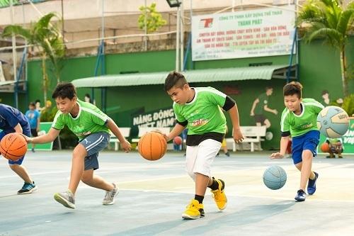 Nhiều sân chơi thể thao phù hợp cho học sinh được mở rộng.