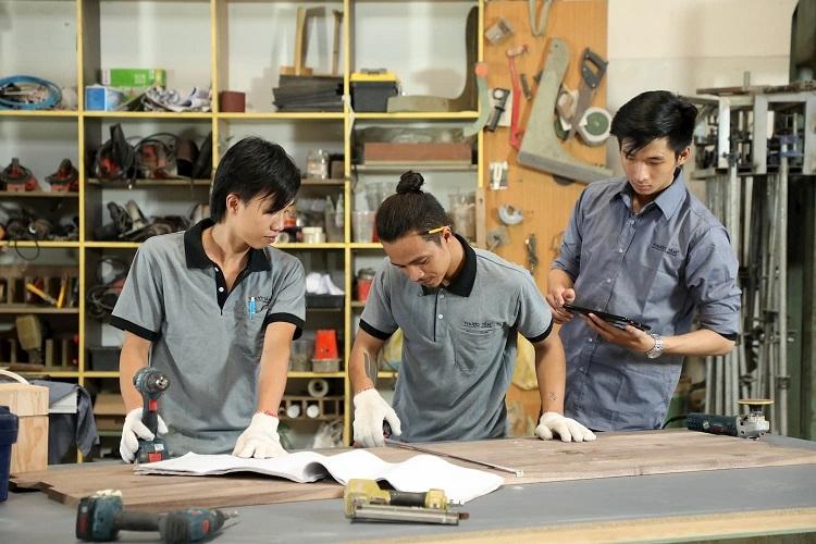 Dây chuyền sản xuất của Tam Design hiện đại, trang bị công nghệ, kỹ thuật tiên tiến.