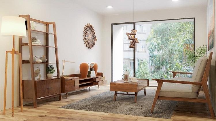 Đồ gỗ Tam Design trong không gian phòng khách.