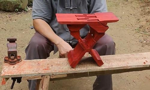 Chiếc ghế khi hoàn thành. Ảnh: Grandpa Amu.