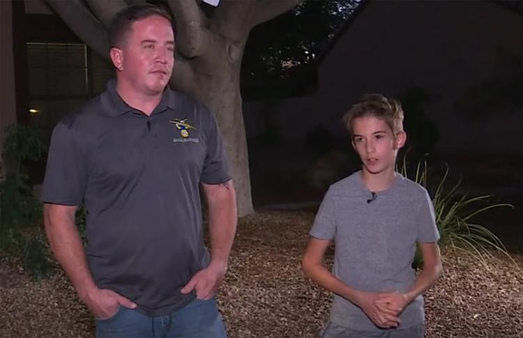 Ryan và James kể lại sự việc tối 1/11. Ảnh: 12news.
