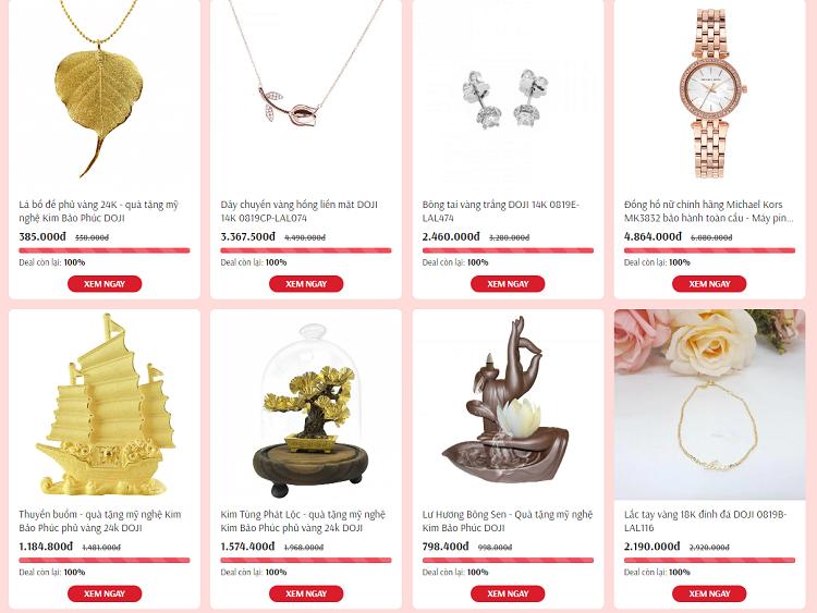 Các sản phẩm trang sức, mỹ nghệ của DOJI ưu đãi độc quyền 30% trênShop VnExpress. Xem thêmtại đây.