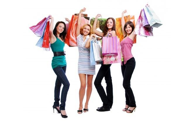 Các cô gái thường thích mua sắm trong ngày độc thân.