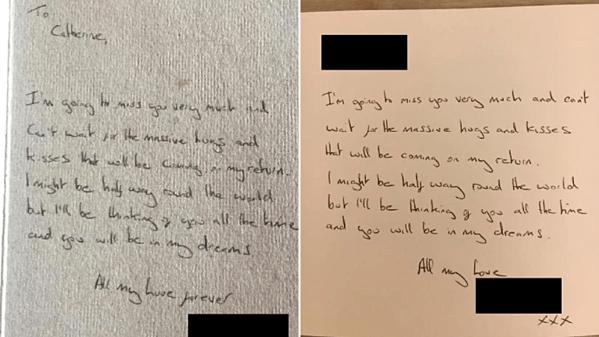 Hai trong số những lá thư giống hệt nhau được gửi tới hai người phụ nữ. Ảnh: Metro.