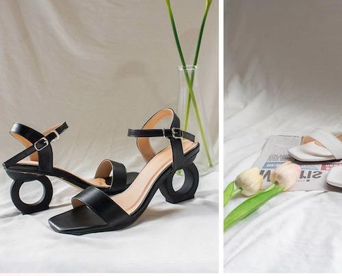Giày cao gót vuông thời trang Erosska hở gót quai hậu tinh tế cao 5cm Thiết kế thời trangDễ dàng phối trang phụcChất liệu cao cấp, hở mũi, da PU, ôm chân, đế chống trượt giúp tăng cường độ bám,