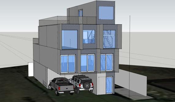 Thiết kế 3D nhà của Will. Ảnh: Boredpanda.