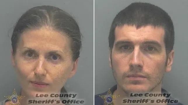 Vợ chồng nhà OLeary đã bị bắt vì ngộ sát con. Ảnh: Lee County Sheriffs Office.
