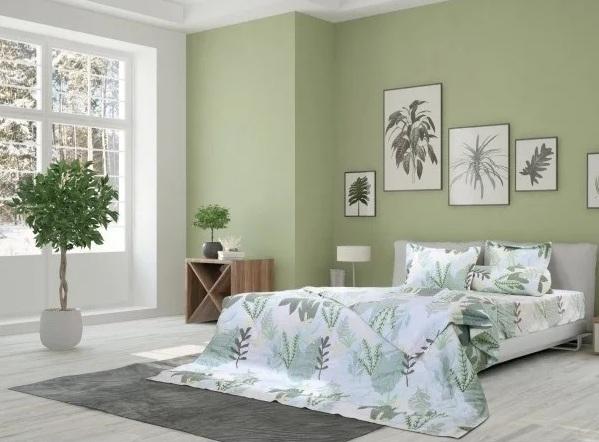 Các bộ drap giường trang nhã, hòa hợp vớitông chủ đạo của phòng ngủ có bán trên Shop VnExpress.