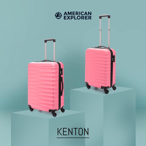 vali American Explorer thiết kế, màu sắc tươi mới.