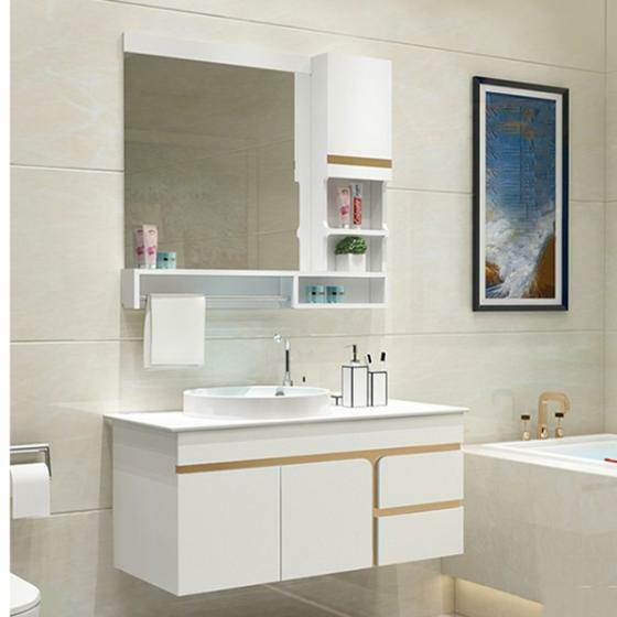 Trên Shop VnExpress đang có nhiều mẫu tủ chậu, chậu rửa, kệ gương đồng bộ, với nhiều kích thước, phù hợp với nhiều không gian nhà tắm khác nhau.