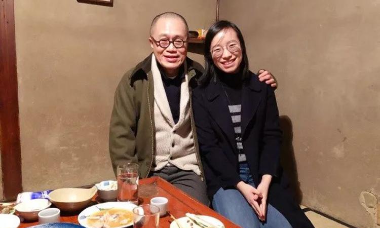 Với bố Thanh Vân, được nhìn thấy con gái hạnh phúc là niềm vui vô tận của ông. Ảnh: zhihu.
