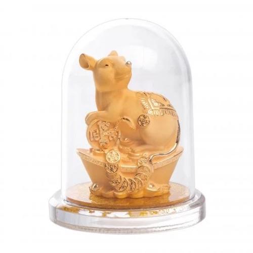 Kim giáp Tý là món quà ý nghĩa cho năm 2020 với hình tượng chú chuột tượng trưng cho sự nhanh nhẹn, linh hoạt. Sản phẩm được sản xuất bởi công nghệ nano, lớp bên ngoài hoàn toàn bằng vàng 24k, bên trong là đồng. Tượng giảm còn 1,344 triệu đồng (giá gốc 1,68triệu đồng) trên Shop VnExpress, kích thước: 10x10x13 cm.