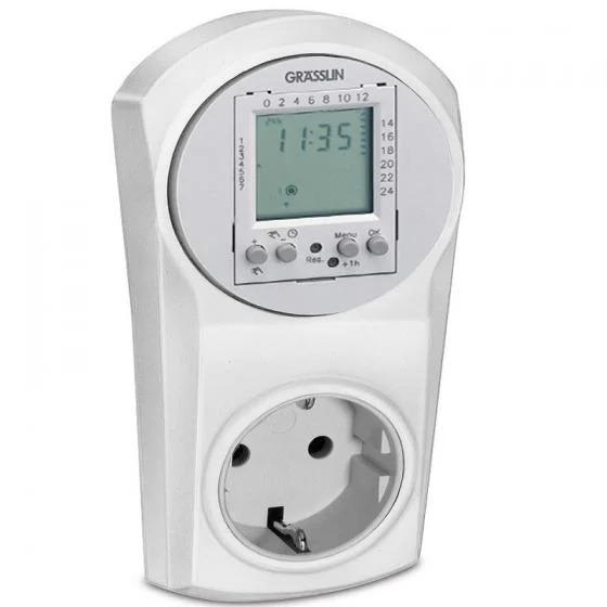 Ổ cắm hẹn giờ Topica 600 nhập khẩu từ Đức. Sản phẩm có khả năng hẹn giờ các thiết bị điện trong gia đình, tự động bật, tắt thiết bị theo nhu cầu. Sản phẩm có thiết kế dạng ổ cắm, có thể cắm trực tiếpvào ổ điện gia đình.Thời gian cài đặt tối thiểu một phút, có thể cài đặt tối đa 20 lần trong 24 giờ.Công suất tải 16 Acho phép làm việc trực tiếp tối đa 1.400 W,đảm bảo độ bền của thiết bị. Sản phẩm ưu đãi nửa giá trên Shop VnExpress, giảm còn 805.000 đồng.
