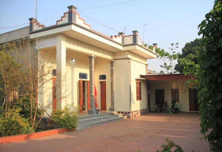 Ngôi nhà của gia đìnhđược xây đúng năm sinh Hậu và vừa được sửa sang năm 2018. Ảnh: Phan Dương.