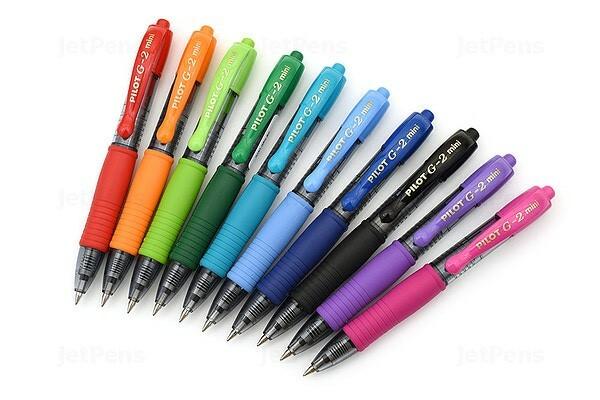 Dòng bút G2 sẽ viết lâu hơn.