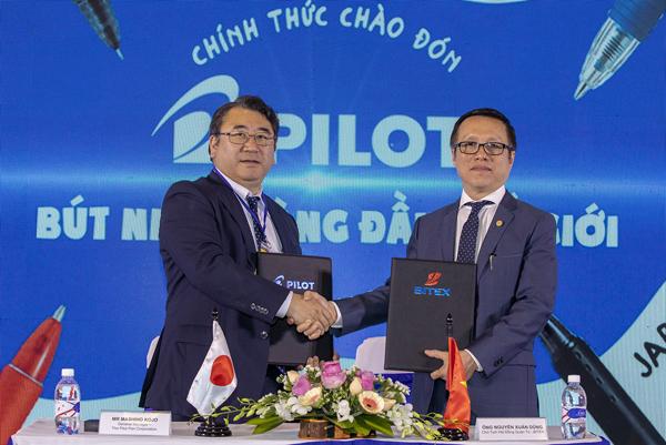 BITEX và Pilot ký kết hợp tác tại Lễ ra mắt thương hiệu Pilot tại Việt Nam.