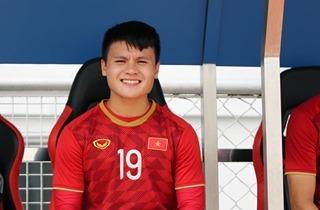 Quang Hải luôn xuất hiện trước công chúng với nụ cười chân chất.