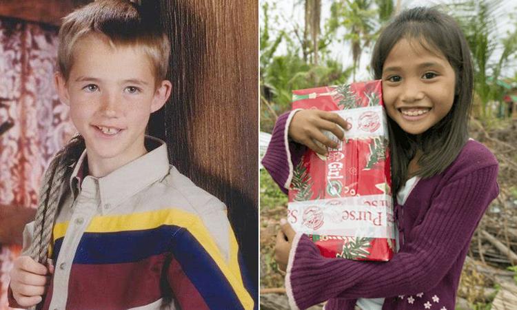 Hộp quà của Tyler đã đến với cô bé cách nửa vòng trái đất. Ảnh: Brightside.