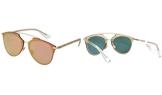 Kính mát Christian Dior DIORREFLECTEDP S5ZRG làm thất liệu plastic và hợp kim titanium. Trọng lượng nhẹ, ôm sát gương mặt. Thiết kế dáng tròng bo cong và dễ phối với nhiều trang phục. Sản phẩm giảm 20%, còn 12,72 triệu (giá gốc 15,9 triệu) trên Shop VnExpress.