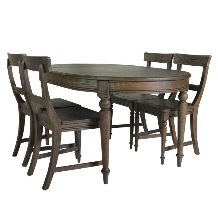 Bộ bàn ghế phòng ăn Furnist Kitson  làm bằng chất liệu gỗ sồi,độ bền tốt. Vângỗ tạo hình đẹp, cókhả năng chống mối mọt, mục rửa tốt. Sản phẩm gồm một bàn và 4 ghế đi kèm. Thiết kế đơn giản, cổ điển, phù hợp với nhiều không gian nhà ở. Bàn gỗ bo tròn 4 góc, tạo cảm giác mềm mại, tô điểm cho không gian sống nhà bạn. Bộ sản phẩm có giá 10,84 triệu đồng, giảm 18% so với giá gốc.