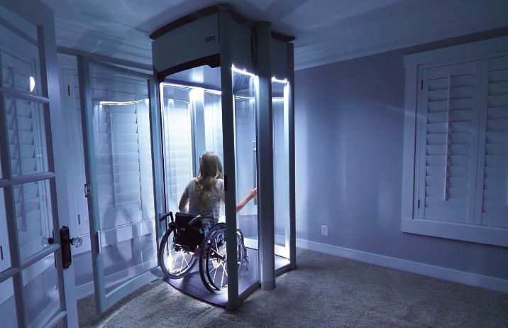Chiếc thang máy mà Nelson làm cho vợ. Ảnh: JerryRigEverything.